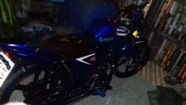 Moto shineray color azul