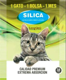 Piedras Higiencias Sanitarias Silica Lazy Cat X 3,8 Lts (duran un mes c/ bolsa)