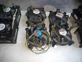 Combo Fan-Coolers scket 478 y 775, 462 y amd 2 y 3.