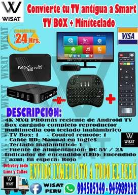 Convierte tu TV antiguo a SMART Smart Tv Box Mxq Pro 4k + Teclado