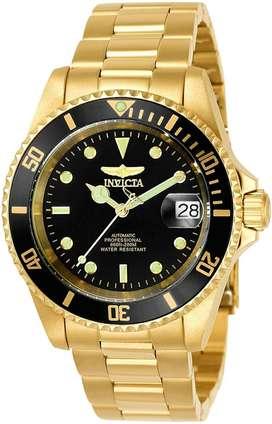 Reloj Invicta Pro Japones Para Hombre Bañado En Oro 8929ob