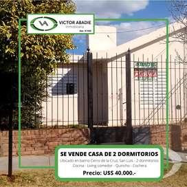 Se vende casa de 2 dormitorios en Barrio Cerro de la Cruz