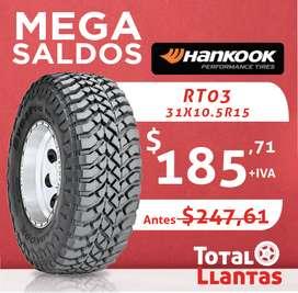 LLANTAS 31X10.5R15 HANKOOK RT03
