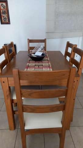 Vendo excelente mesa y 6 sillas en muy buen estado