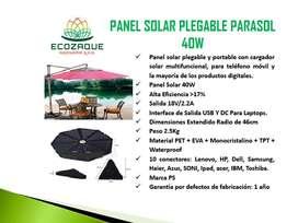 panel solar plegable parasol 40w