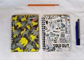 Cuaderno Argollado Scribe Pasta Dura Master Cuadriculado