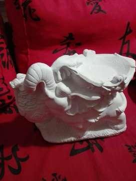 Elefante De Yeso Para Fuente De Sal Sin Pintar (NUEVOS)