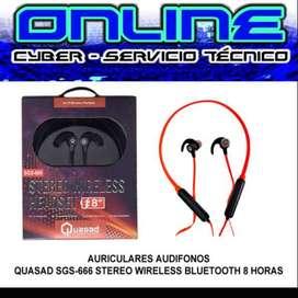 AURICULARES AUDIFONOS QUASAD SGS-666 STEREO WIRELESS BLUETOOTH 8 HORAS
