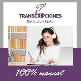 TRANSCRIPCIÓN DE AUDIOS A TEXTO