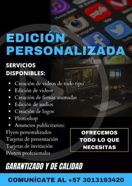 Creación y edición de videos. Realización de anuncios publicitarios