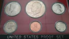 Proof Set de 1975 S con 3 monedas de 1976