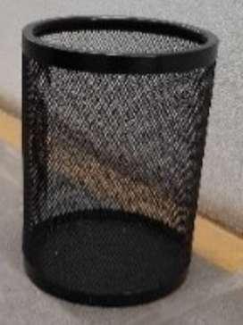 Papelera metalica malla