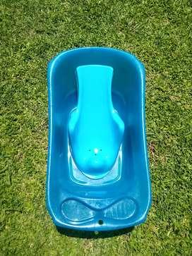 Bañera de bebé con asiento