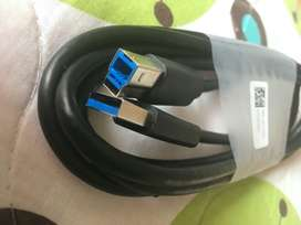 Cable Usb 3.0 Tipo A - Tipo B Macho. Dell Original. 1.80 Mts