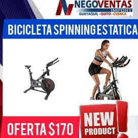 BICICLETA SPINNING ESTATICA IDEAL PARA EJERCCIOS EN ESTA TEMPORADA