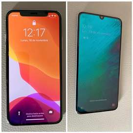 Iphone x 256gb y Samsung A70 128g
