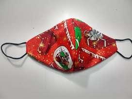 Tapabocas navideños