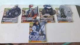 Art 332  Revistas Colección Tesoros y Misterios del Mundo Robots Piratas Grandes Guerreros Maquinas Poderosas Billiken