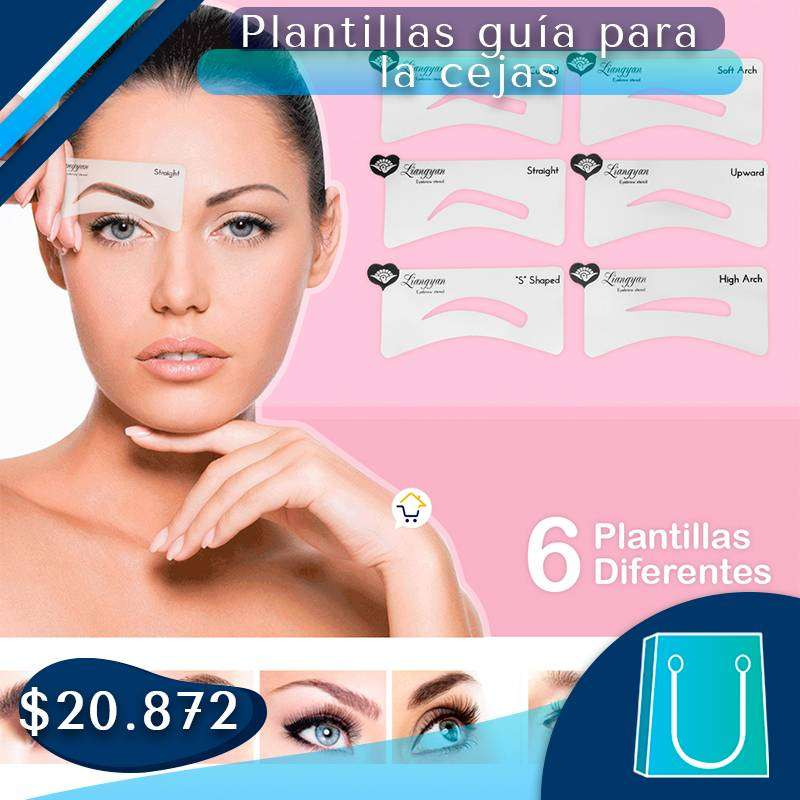 PLANTILLAS GUÍA PARA CEJAS X6 ️ 0