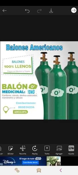 Balon de Oxigeno Americano