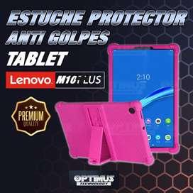 Estuche Case protector de goma Tablet Lenovo m10 plus tb-x606f Anti golpes con soporte