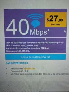 Línea más internet CNT