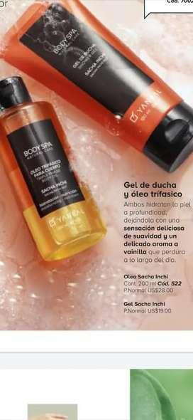 Gel de ducha y óleo Sacha inchi