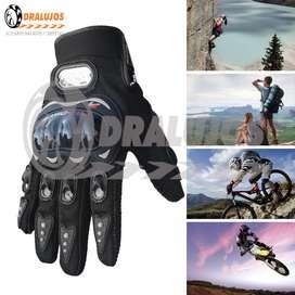 2 Guantes de Proteccion Medio Dedo Bicicleta/Moto Pro Biker Colores Surtidos SKU: GUAM01