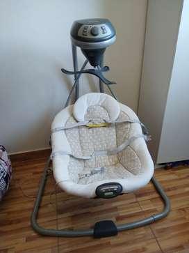 Mecedor columpio para bebe marca graco 0 a 6 meses