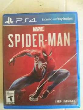 Se vende juego spiderman ps4