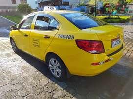 Taxi con acciones y derechos en Baños de agua Santa