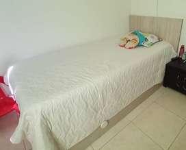 Se vende cama sencilla con auxiliar