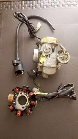 Carburador-bobina corona y bobina de alta para moto akt jet 5