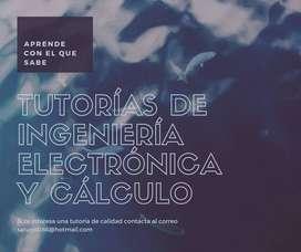 Clases de cálculo e ingeniería electrónica.