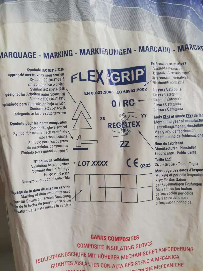 Guantes Dieléctricos 1000 Voltios Flex & Grip Nuevos 0