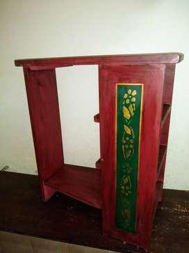 *Mesa De Arrime artesanal Alto 68x37x64cm Hermosa Perfecta