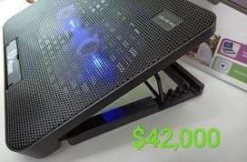 Base reclinable para portátil doble cooler