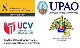 Clases de Cálculo Derivadas Integrales UPN