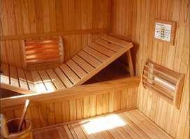 Saunas en madera de pino Canadiense