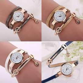 Reloj femme ilusion of time mujer dama cuero analogo pulsera