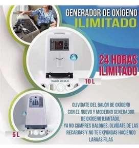 Concentrador de oxígeno ilimitado