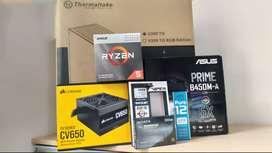 PC DISEÑO / GAMING - Ryzen 5 3400G - DDR4 16GB 3200MHz - SSD 250GB M.2 NVMe - CV650 Bronze