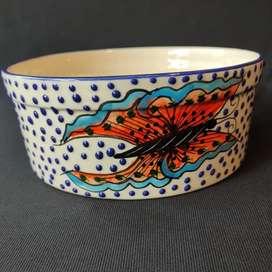 Vasija en porcelana mexicana