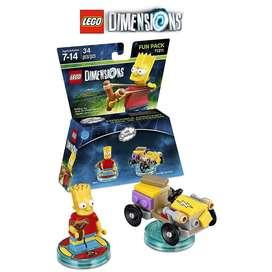 LEGO Dimensions Bart Simpson, Simpsons – 34 Piezas Fun Pack.