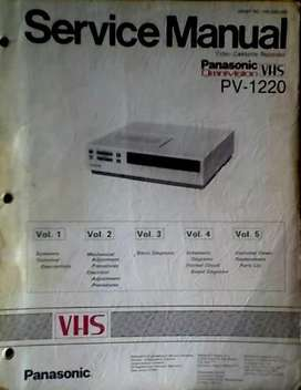 "IDIOMA: INGLES MANUAL DE SERVICE ""PANASONIC"" VHS PV 1220 ORIGINAL AUDIOMAX"