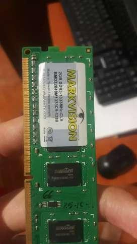 Memoria ram Ddr3 2 gb