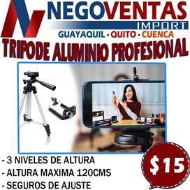 TRIPODE ALUMINIO PROFESIONAL DE 120CMS EN DESCUENTO EXCLUSIVO DE NEGOVENTAS