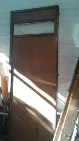 Puerta placa madera maciza 2 x 070cm
