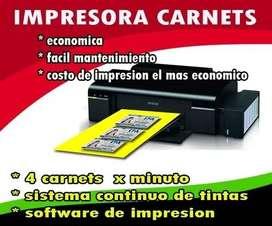 impresoras carnets PVC  4 x minuto.