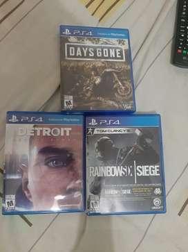 Vendo estos 3 juegos para ps4